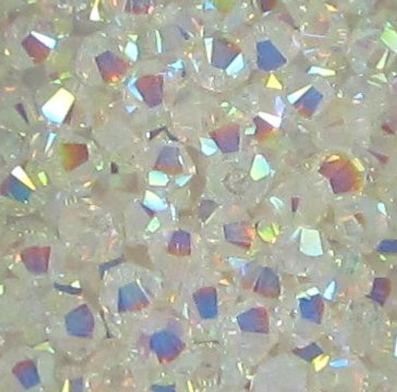 3mm Swarovski Bicones, Crystal AB2X (Qty: 50)