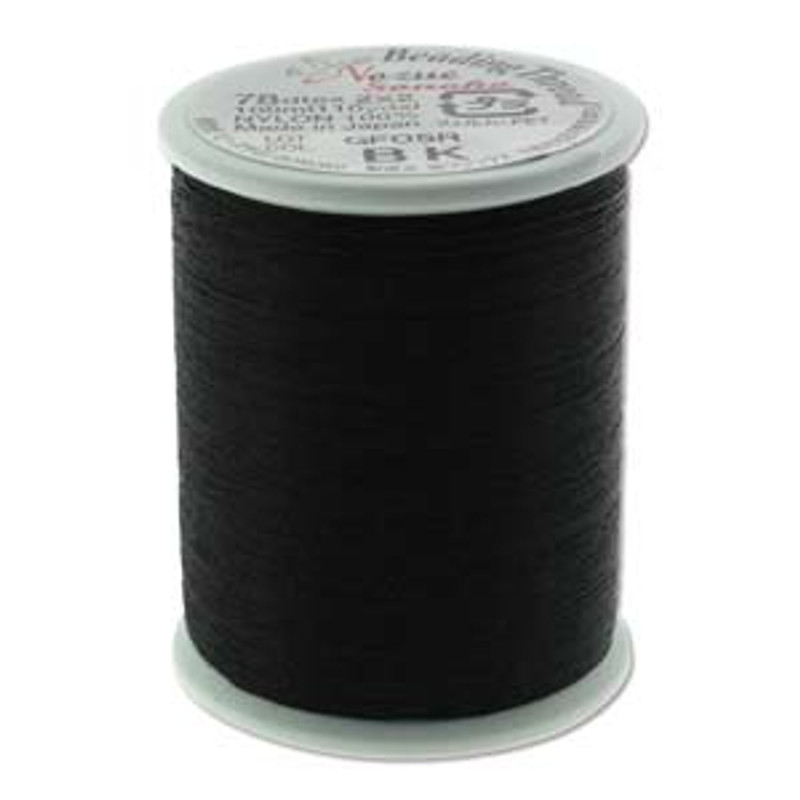 Nozue Sonoko Beading Thread Spool, Black
