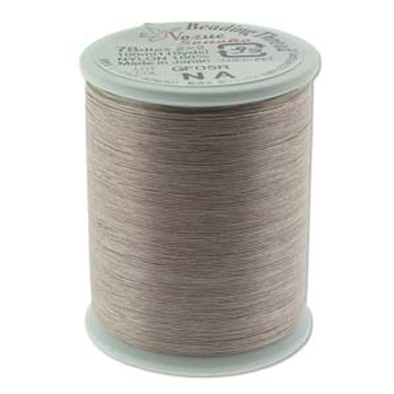 Nozue Sonoko Beading Thread Spool, Natural