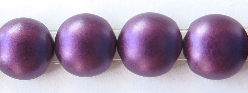 8mm Candy Beads, Pastel Bordeaux (Qty: 20)