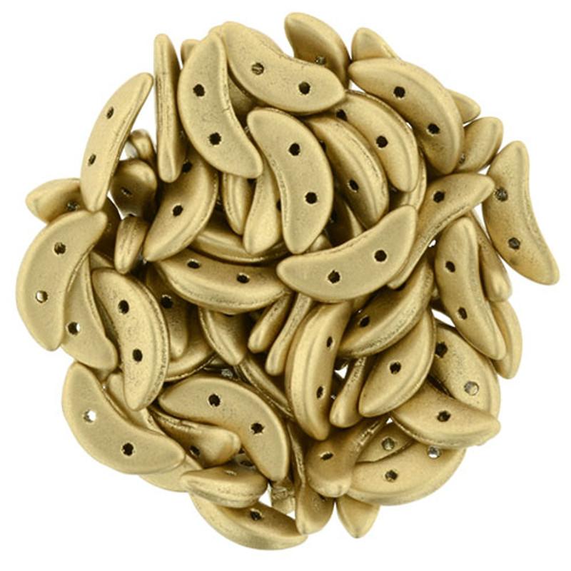 CzechMates Crescent Beads, Matte Metalllic Flax (10 gr.)