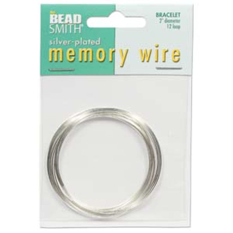 "Memory Wire - Round Bracelet - 2"" (Small) - Silver (12 loops)"