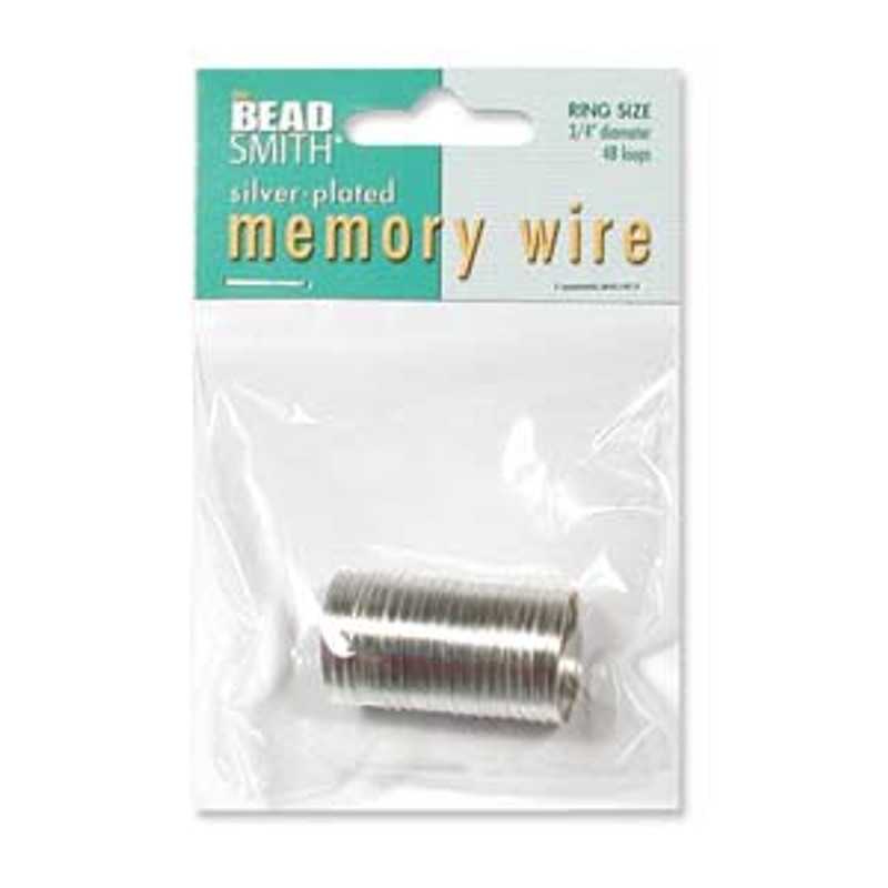 """Memory Wire - Ring - .75"""" - Silver (48 loops)"""