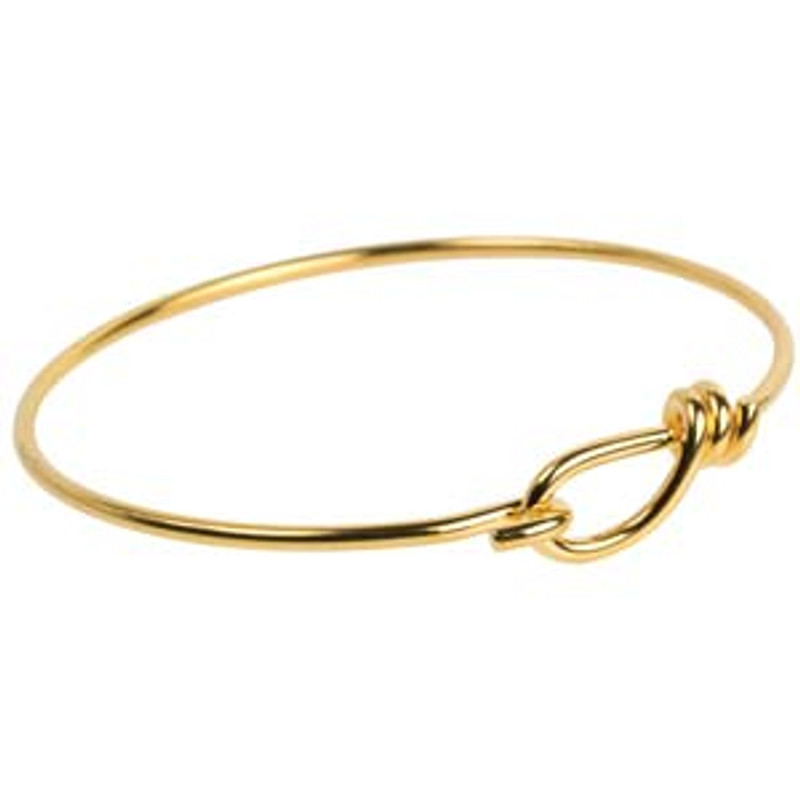 Wire Bracelet - 12 Gauge - Gold Plated  (BR-3)