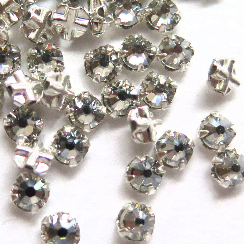 16ss Swarovski Rose Montees - Crystal (Qty: 50)