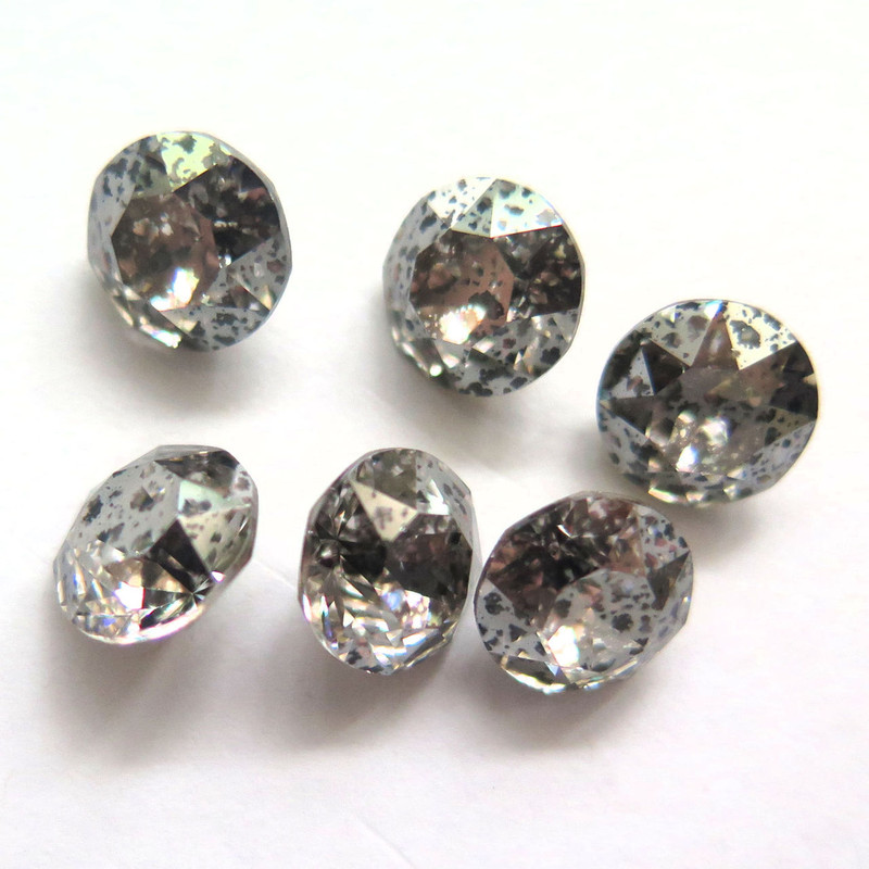 39ss (8mm) Chatons, Crystal Silver Patina (Qty: 6)