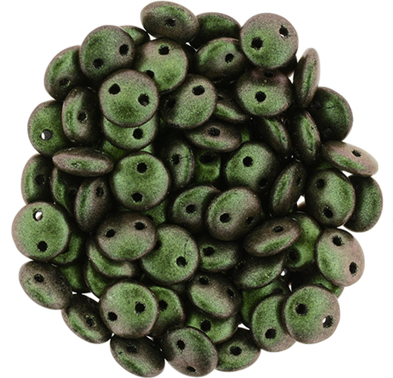 2-Hole Lentils, Olive Mauve (Qty: 50)