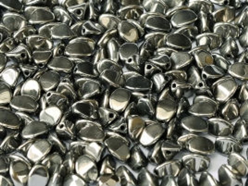 Pinch Beads, 5x3mm, Full Chrome (10 gr.)