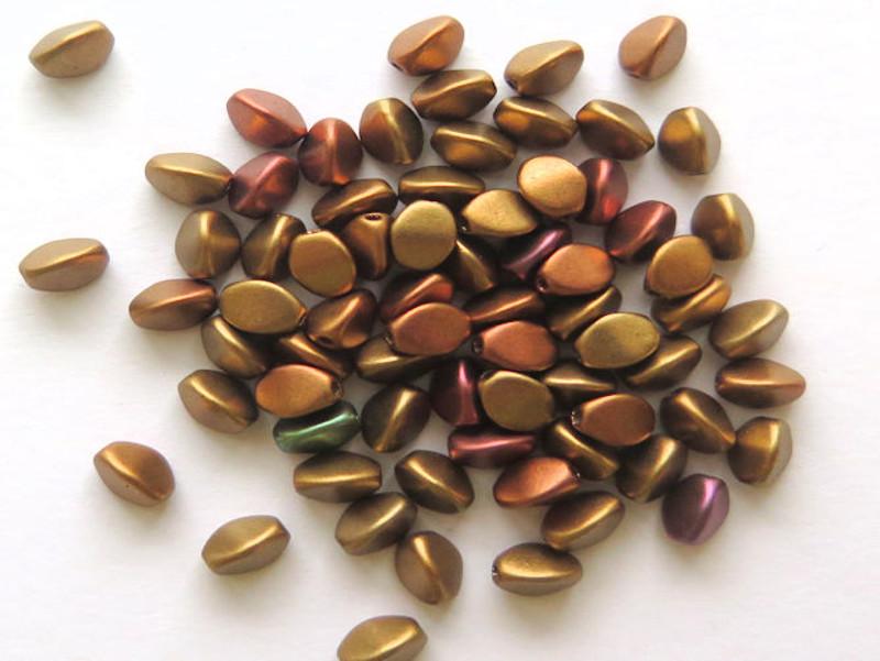 Pinch Beads, 5x3mm, Metallic Mix (10 gr.)