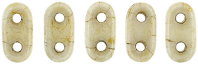 CzechMates 2-Hole Bar Beads, Opaque Luster Picasso (10 gr.)