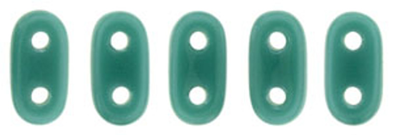 CzechMates 2-Hole Bar Beads, Persian Turquoise (10 gr.)