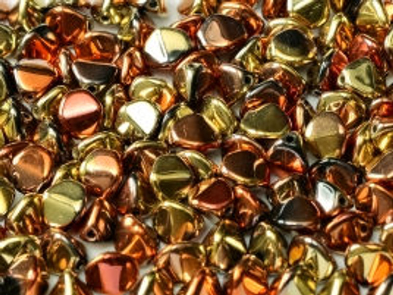 Pinch Beads, 5x3mm, California Gold Rush (10 gr.)