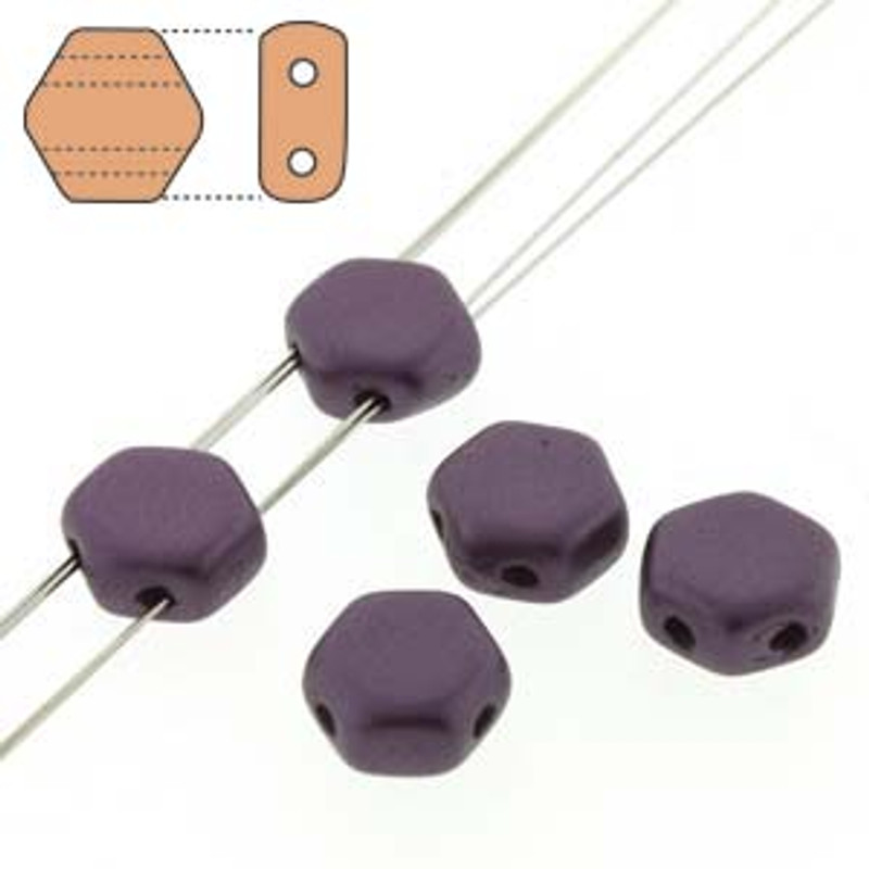 2-Hole Honeycomb Beads, Pastel Bordeaux (Qty: 30)