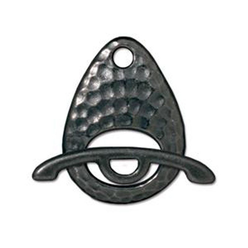 TierraCast Black Plated Hammered Ellipse Toggle Clasp (C5)