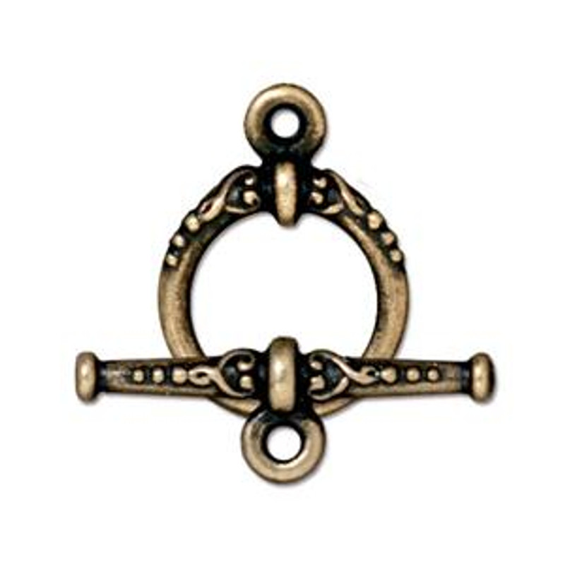 TierraCast Bronze Plated Heirloom Toggle Clasp (C16)