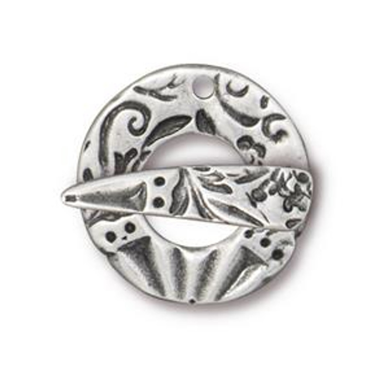 TierraCast Pewter Flora Toggle Clasp (C34)