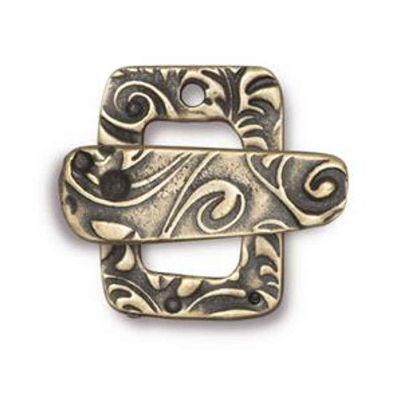 TierraCast Bronze Plated Jardin Toggle Clasp (C35)