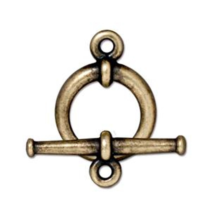 TierraCast Bronze Plated Tapered Toggle Clasp (C39)