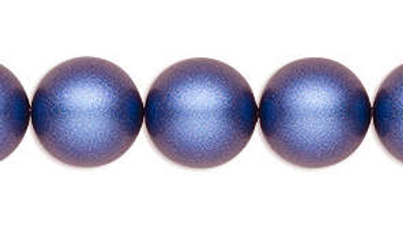 3mm Swarovski Pearls, Iridescent Dark Blue (Qty: 50)