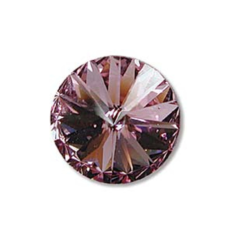 12mm Swarovski Rivoli, Light Amethyst (Qty: 1)