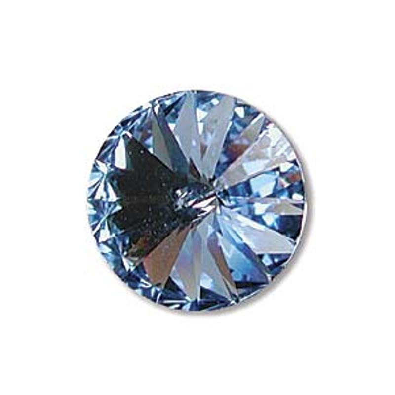 12mm Swarovski Rivoli, Light Sapphire (Qty: 1)