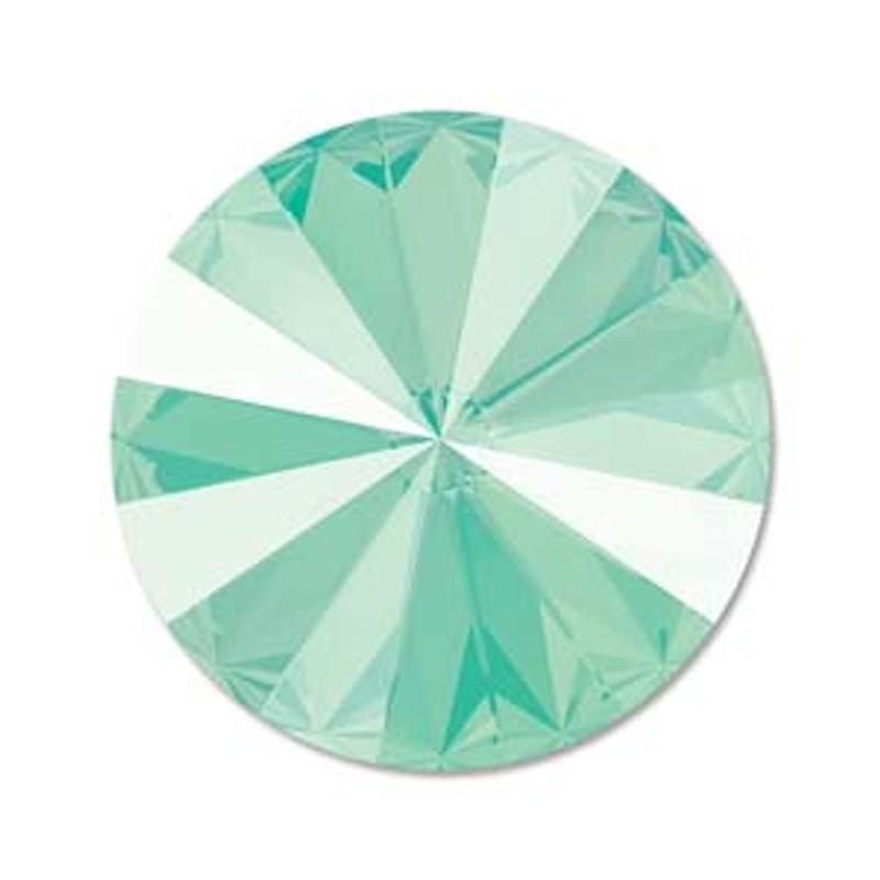 12mm Swarovski Rivoli, Mint Green (Qty: 1)