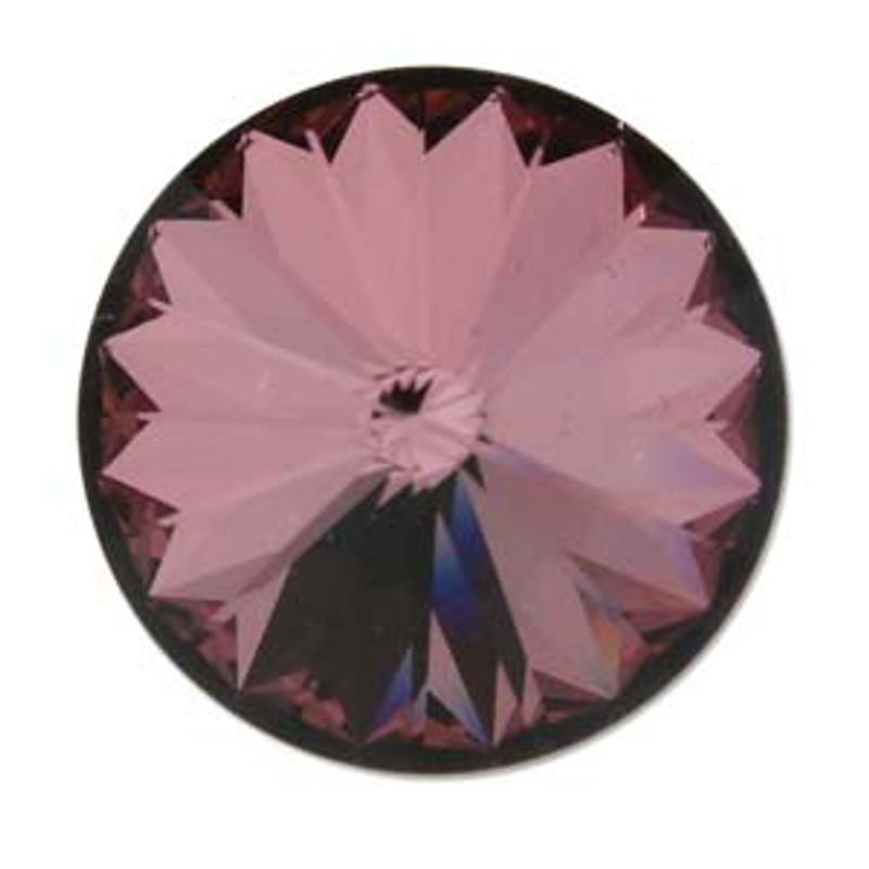 14mm Swarovski Rivoli, Crystal Antique Pink (Qty: 1)