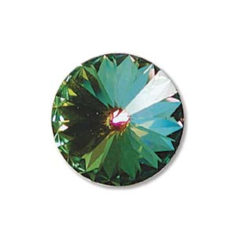 14mm Swarovski Rivoli, Crystal Vitrail Medium (Qty: 1)