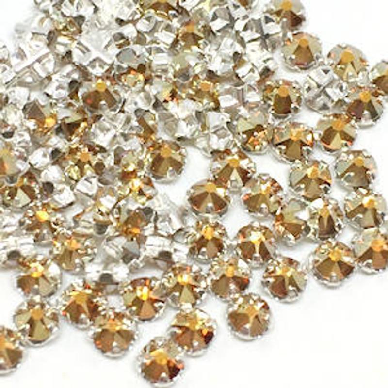 12ss Swarovski Rose Montees - Crystal Metallic Sunshine (Qty: 50)
