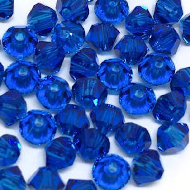 3mm Swarovski Bicones, Capri Blue (Qty: 50)