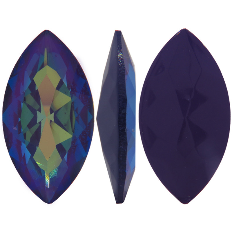 32 x 17mm Swarovski Navette, Ultra Purple AB (Qty: 1)