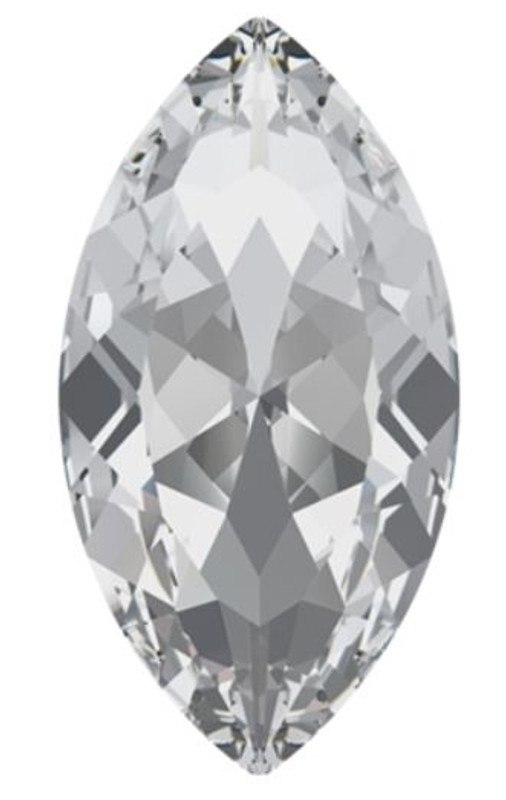 32 x 17mm Swarovski Navette, Crystal (Qty: 1)