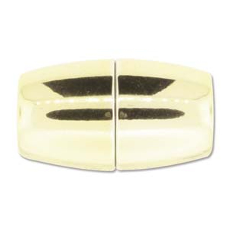 Acrylic Magnetic Clasp 41x24mm with 15.5mm ID - Shiny Gold (C218)
