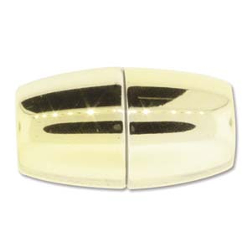 Acrylic Magnetic Clasp 38x20mm with 12.5mm ID - Shiny Gold (C224)