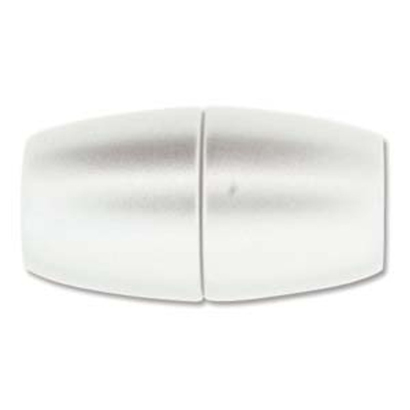 Acrylic Magnetic Clasp 31x17mm with 10.75mm ID - Matte Chrome (C228)