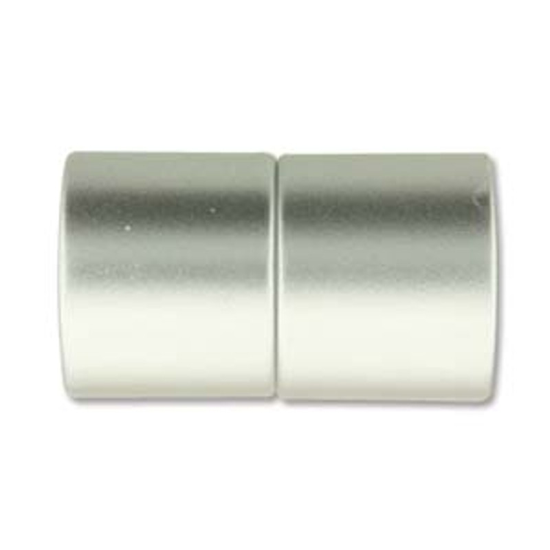 Acrylic Magnetic Clasp 26x15mm with 12mm ID - Matte Chrome (C234)