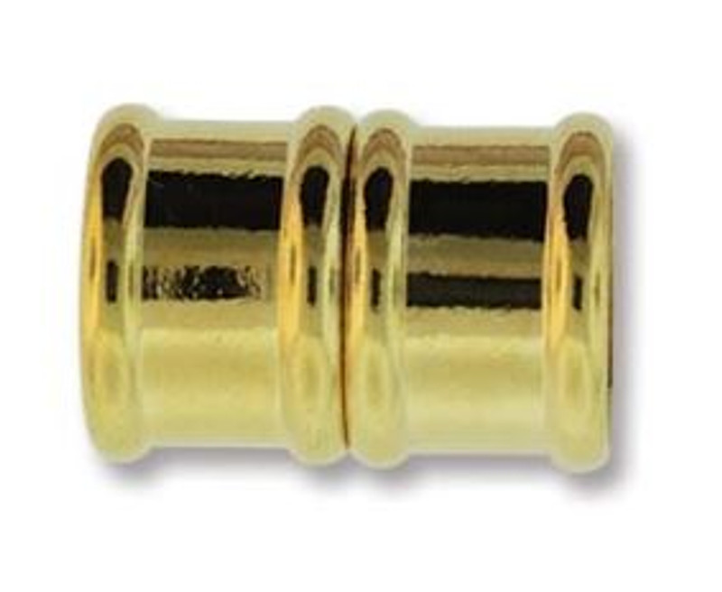 Magnetic Bamboo Clasp with 12mm ID - Gold Plated (C239)