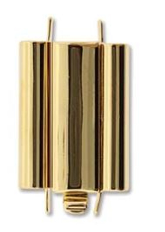 Elegant Elements BeadSlide Clasp, Smooth, Gold Plated, 18mm