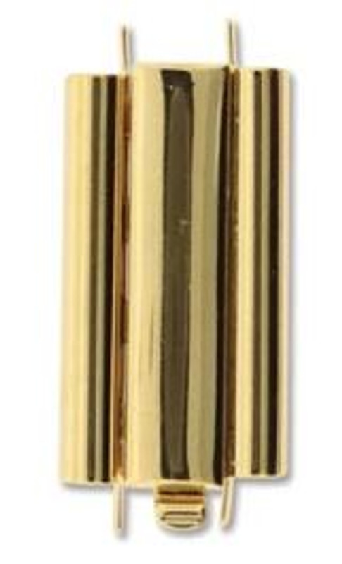Elegant Elements BeadSlide Clasp, Smooth, Gold Plated, 24mm