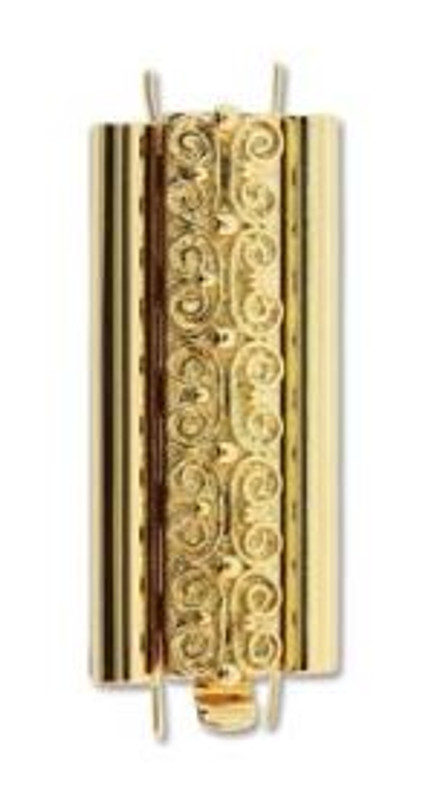 Elegant Elements BeadSlide Clasp, Squiggle, Gold Plated, 29mm