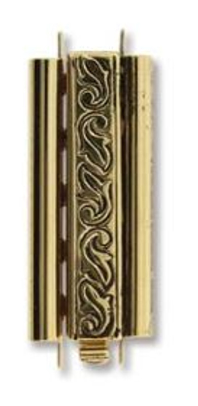 Elegant Elements BeadSlide Clasp, Swirl, Antique Gold, 29mm