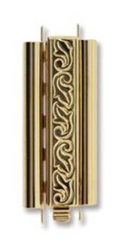 Elegant Elements BeadSlide Clasp, Swirl, Gold Plated, 29mm