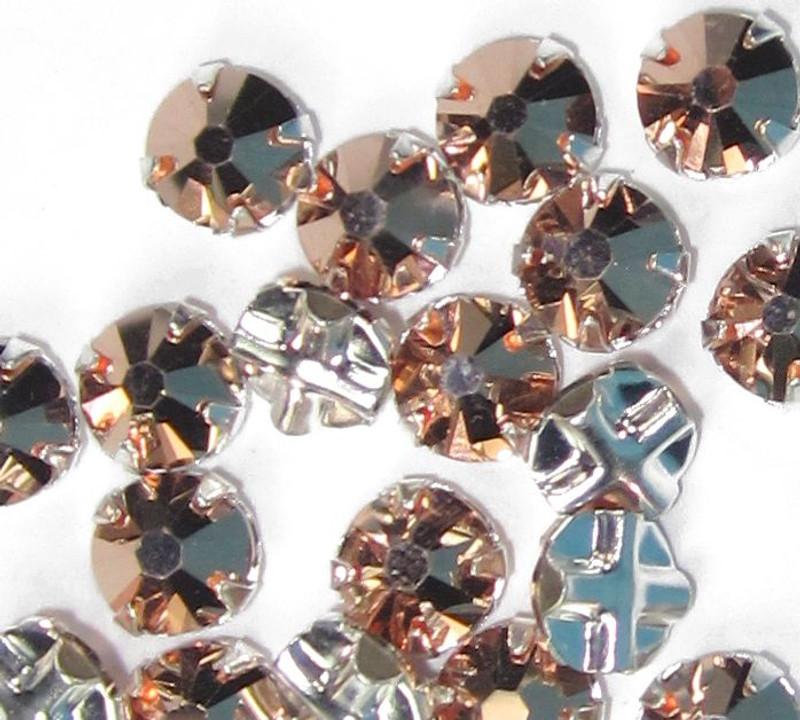 30ss Swarovski Rose Montees - Crystal Rose Gold (Qty: 20)