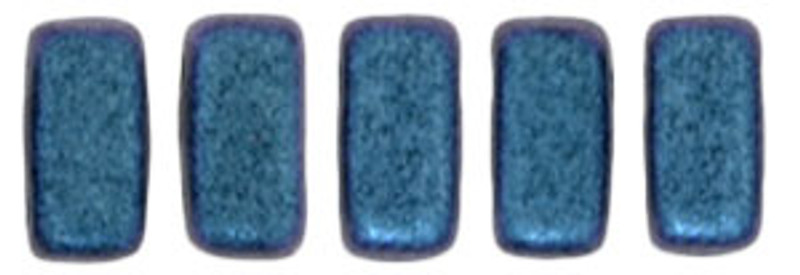 CzechMates 2-Hole Brick Beads, Indigo Orchid (Qty: 25)