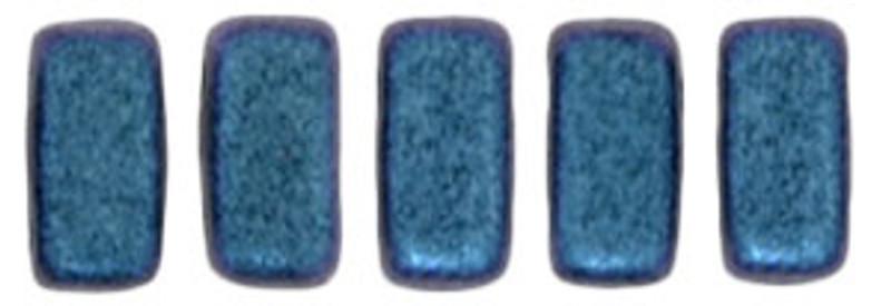 CzechMates 2-Hole Brick Beads, Indigo Orchid (10 gr.)
