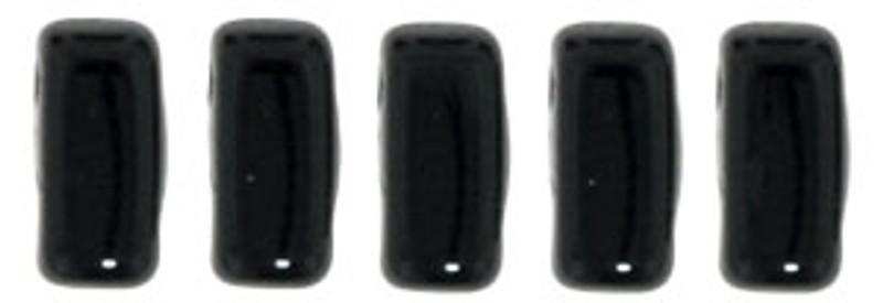 CzechMates 2-Hole Brick Beads, Jet (10 gr.)