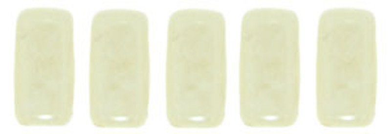 CzechMates 2-Hole Brick Beads, Opaque Champagne Luster (Qty: 25)