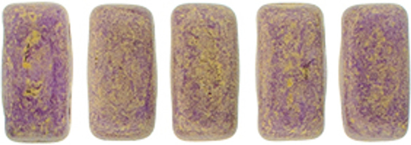 CzechMates 2-Hole Brick Beads, Pacifica Fig (Qty: 25)