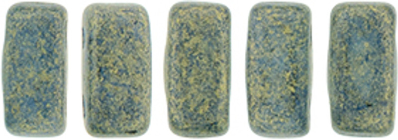 CzechMates 2-Hole Brick Beads, Pacifica Poppy Seed (Qty: 25)