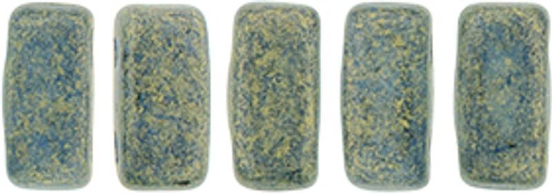 CzechMates 2-Hole Brick Beads, Pacifica Poppy Seed (10 gr.)